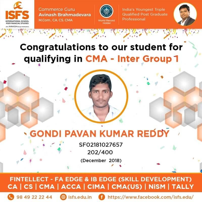 Gondi Pavan Kumar Reddy