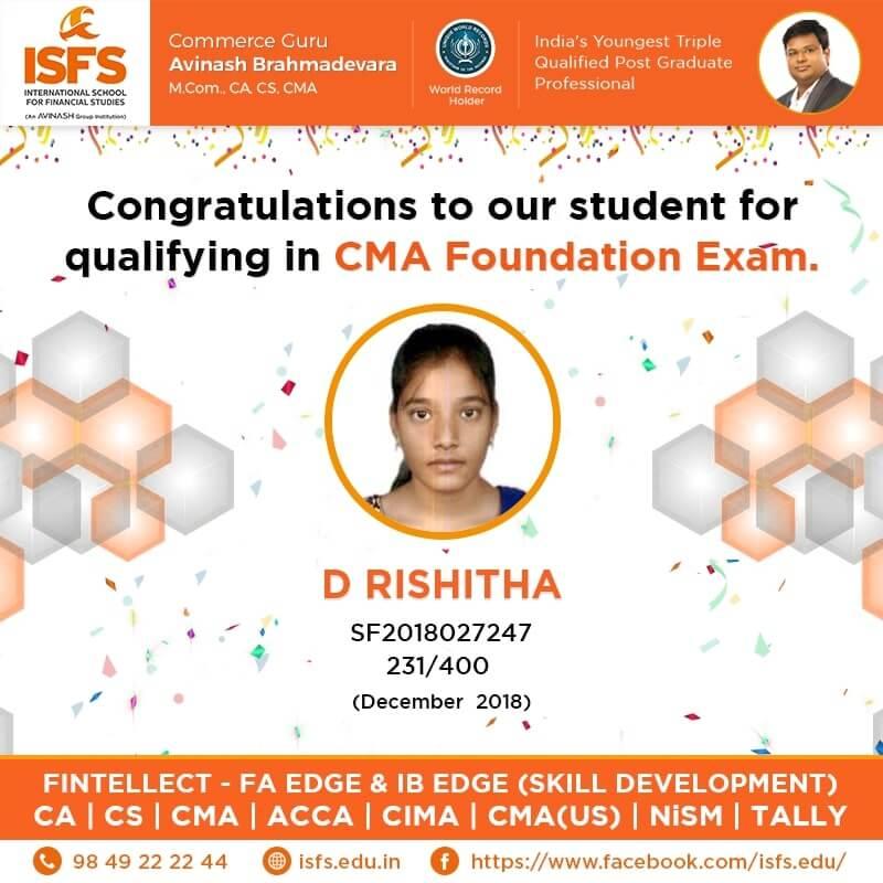 D Rishitha